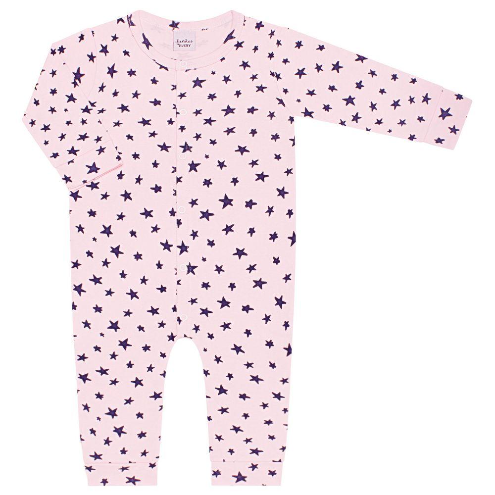 JUN60100_A-moda-bebe-menina-macacao-longo-em-suedine-estrelas-junkes-baby-no-bebefacil-loja-de-roupas-enxoval-e-acessorios-para-bebes