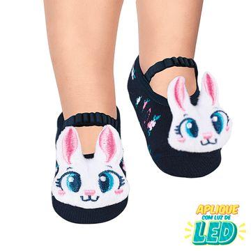 PK70339-CO-B-moda-menina-meia-sapatilha-aplique-led-coelhinha-puket-no-bebefacil-loja-de-roupas-enxoval-e-acessorios-para-bebes