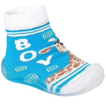 KB22031-14-A-Meia-c-Sola-para-bebe-Girafinha-Azul---Keto-Baby