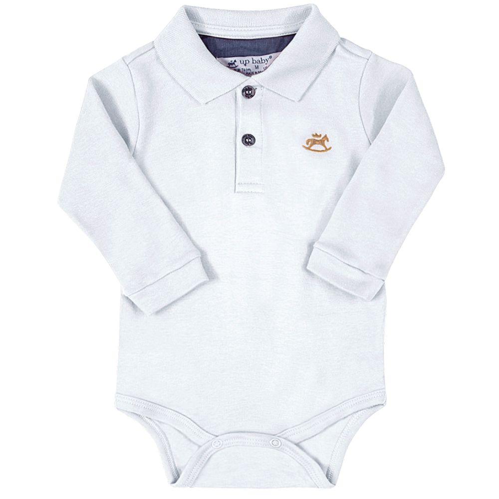 42722-0101-A-moda-bebe-menino-body-polo-em-suedine-branco-up-baby-no-bebefacil-loja-de-roupas-enxoval-e-acessorios-para-bebes