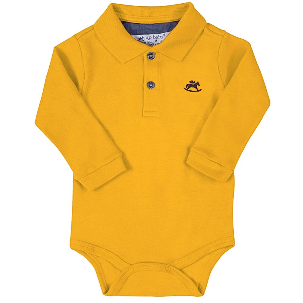 42722-0951-A-moda-bebe-menino-menina-body-polo-em-suedine-amarelo-up-baby-no-bebefacil-loja-de-roupas-enxoval-e-acessorios-para-bebes