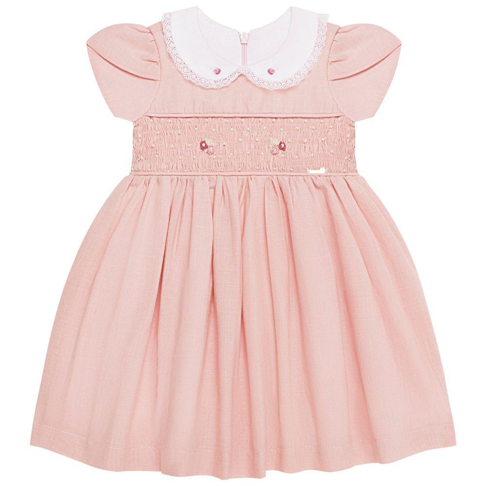 5099078046_A-moda-bebe-menina-vestido-em-cambraia-de-algodao-casinha-de-abelha-florzinhas-rosa-roana-no-bebefacil-loja-de-roupas-enxoval-e-acessorios-para-bebes