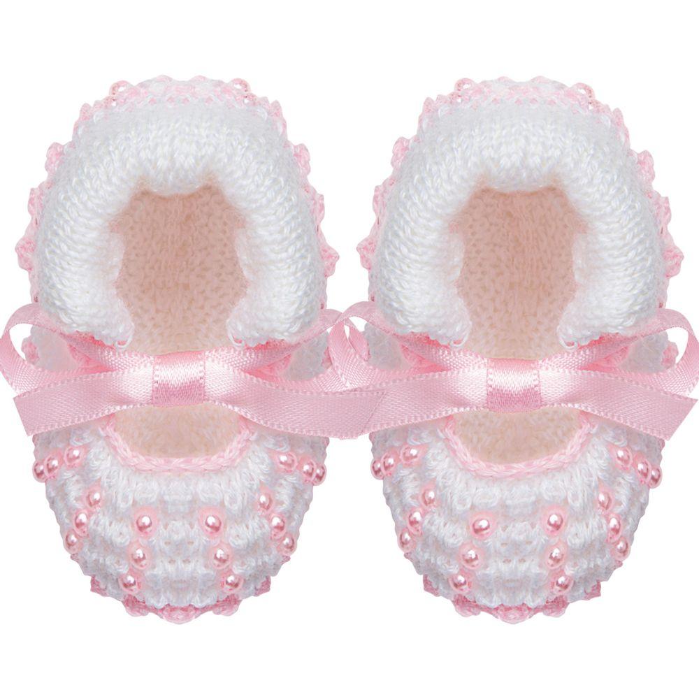 01019007307_A-bebe-menina-sapatinhos-sapatinho-em-tricot-laco-e-perolas-branco-rosa-roana-no-bebefacil-loja-de-roupas-enxoval-e-acessorios-para-bebes