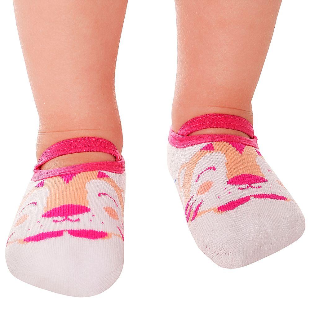 LK043.002-A-moda-bebe-menina-meia-sapatilha-tigrinha-leke-no-bebefacil-loja-de-roupas-enxoval-e-acessorios-para-bebes
