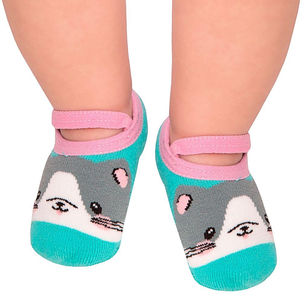 LK044.003-01-A-moda-bebe-menina-meia-sapatilha-gatinha-leke-no-bebefacil-loja-de-roupas-enxoval-e-acessorios-para-bebes