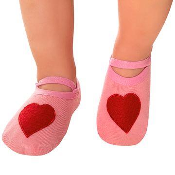 LK073-A-moda-bebe-menina-meia-sapatilha-Coracao-leke-no-bebefacil-loja-de-roupas-enxoval-e-acessorios-para-bebes