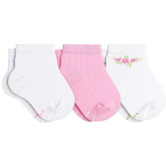 LU02000-989.0911-A-moda-bebe-menina-tripack-kit-3-meias-soquete-c-punho-soft-branca-rosa-florzinhas-lupo-no-bebefacil-loja-de-roupas-enxoval-e-acessorios-para-bebes