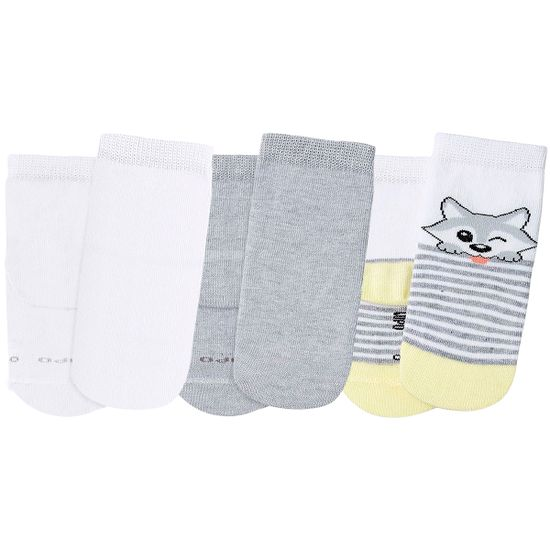 LU02000-989.0916-A-moda-bebe-menino-menina-tripack-kit-3-meias-soquete-c-punho-soft-branca-mescla-lobinho-lupo-no-bebefacil-loja-de-roupas-enxoval-e-acessorios-para-bebes