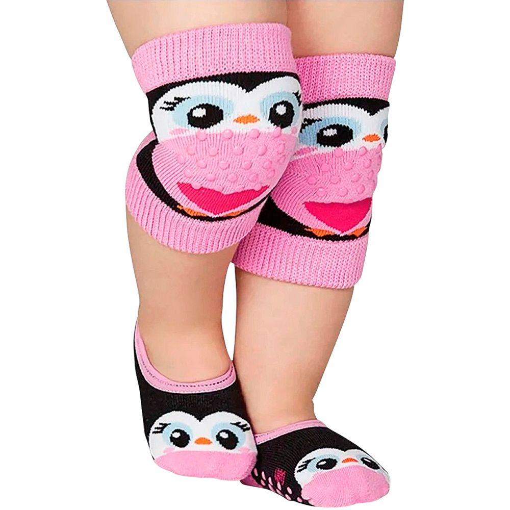 LU10015-009.5370-A-moda-bebe-menina-kit-joelheira-meia-sapatilha-pinguim-lupo-no-bebefacil-loja-de-roupas-enxoval-e-acessorios