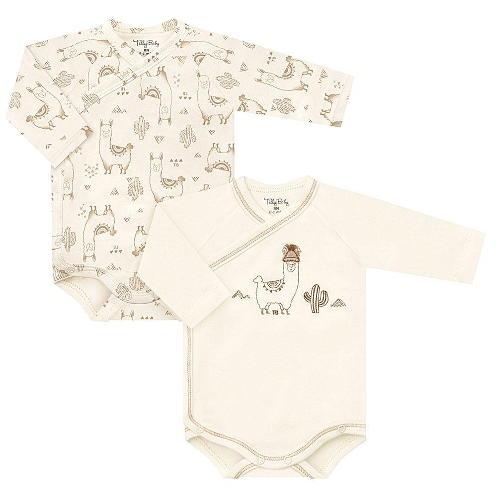 TB202103-A-moda-bebe-menino-menina-kit-2-bodies-longos-em-suedine-lhamas-tilly-baby-no-bebefacil-loja-de-roupas-enxoval-e-acessorios-para-bebes