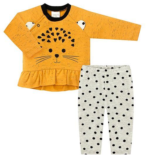 TB202201-A-moda-bebe-menina-conjunto-casaco-calca-moletom-amarela-mescla-porco-espinho-tilly-baby-no-bebefacil-loja-de-roupas-enxoval-e-acessorios-para-bebes