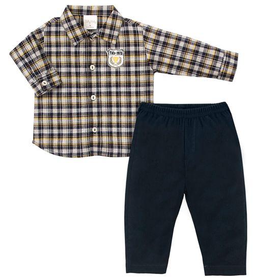 TB202303-A-moda-bebe-menino-camisa-xadrez-calca-sarja-marinho-tilly-baby-no-bebefacil-loja-de-roupas-enxoval-e-acessorios-para-bebes