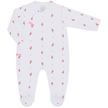 PL66529-RN-BR_B-moda-bebe-menina-macacao-longo-com-touca-lacinhos-em-suedine-flamingo-branco-pingo-lele-no-bebefacil-loja-de-roupas-enxoval-e-acessorios-para-bebes