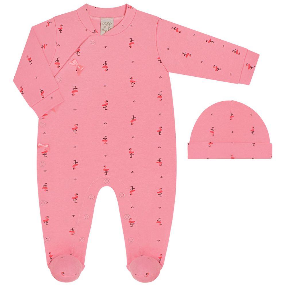 PL66529-RN-RS_A-moda-bebe-menina-macacao-longo-com-touca--lacinhos-em-suedine-flamingo-rosa-pingo-lele-no-bebefacil-loja-de-roupas-enxoval-e-acessorios-para-bebes