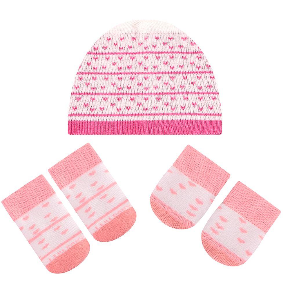 LK402.001-LI-A-moda-bebe-menina-acessorios-kit-touca-luva-sapatinho-em-tricot-coracoes-leke-no-bebefacil-loja-de-roupas-enxoval-e-acessorios-para-bebes