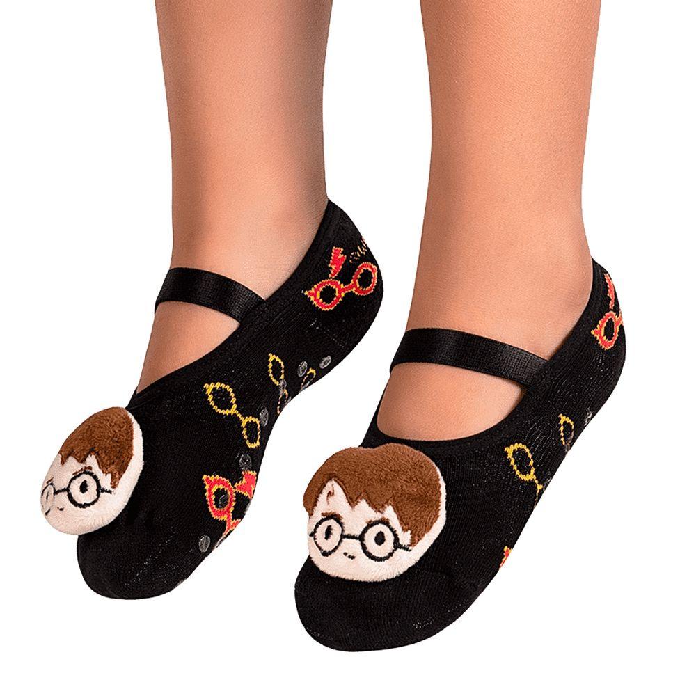 PK93339-HP-A-moda-menino-menina-meia-sapatilha-aplique-led-harry-potter-puket-no-bebefacil-loja-de-roupas-enxoval-e-acessorios-para-bebes