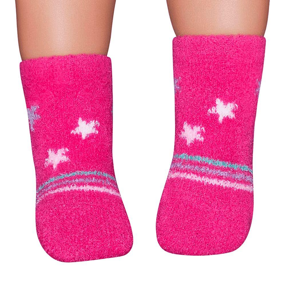 PK6949-PK-A-moda-bebe-menina-meia-soquete-soft-estrelas-pink-no-bebefacil-loja-de-roupas-enxoval-e-acessorios