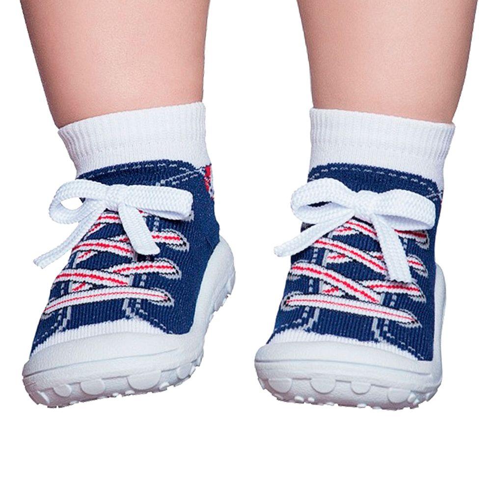 PK4327-MR-A-moda-bebe-menino-meia-com-sola-simpls-tenis-marinho-no-bebefacil-loja-de-roupas-enxoval-e-acessorios