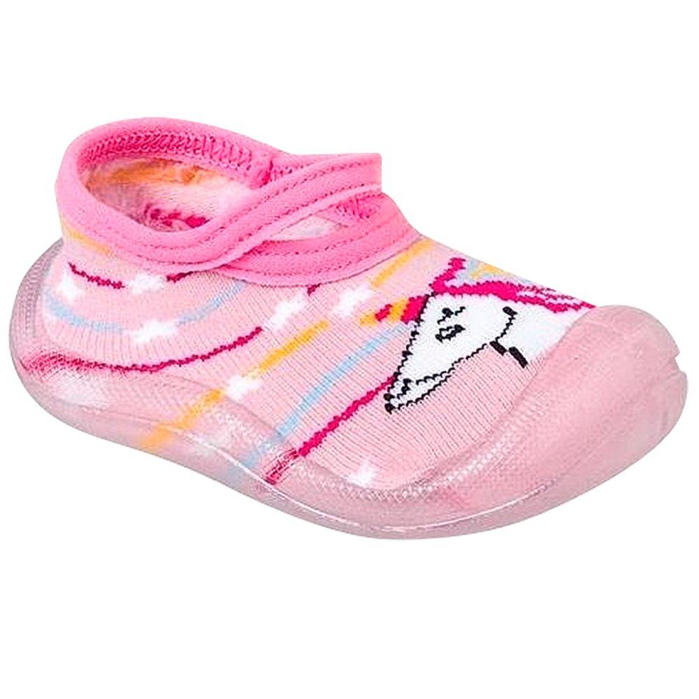 KB22028-7-A-Meia-c-Sola-para-bebe-Unicornio-Rosa---Keto-Baby