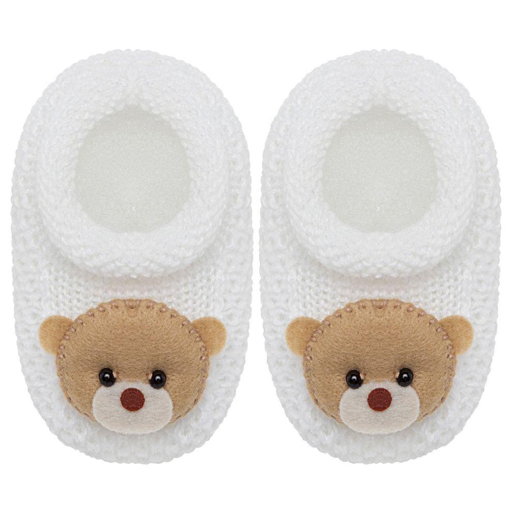 01419001001_A-moda-bebe-menino-sapatinho-tricot-ursinho-branco-roana-no-bebefacil
