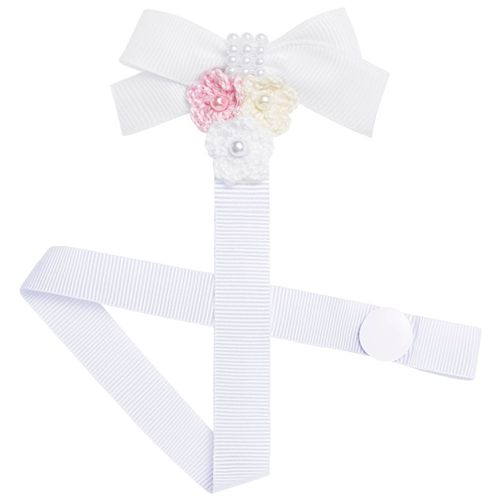01119007001_A-saude-e-bem-estar-chupetas-acessorios-prendedor-de-chupeta-laco---flores-branco-roana-no-bebefacil
