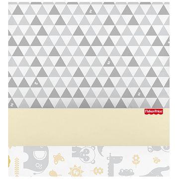 30031204010003-B-Jogo-de-lencol-para-berco-3-pcs-em-percal-Bichinhos-Amarelo---Fisher-Price