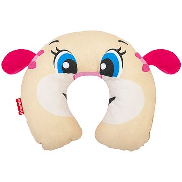30040206010001-A-Protetor-de-pescoco-para-bebe-em-percal-Cachorrinha---Fisher-Price