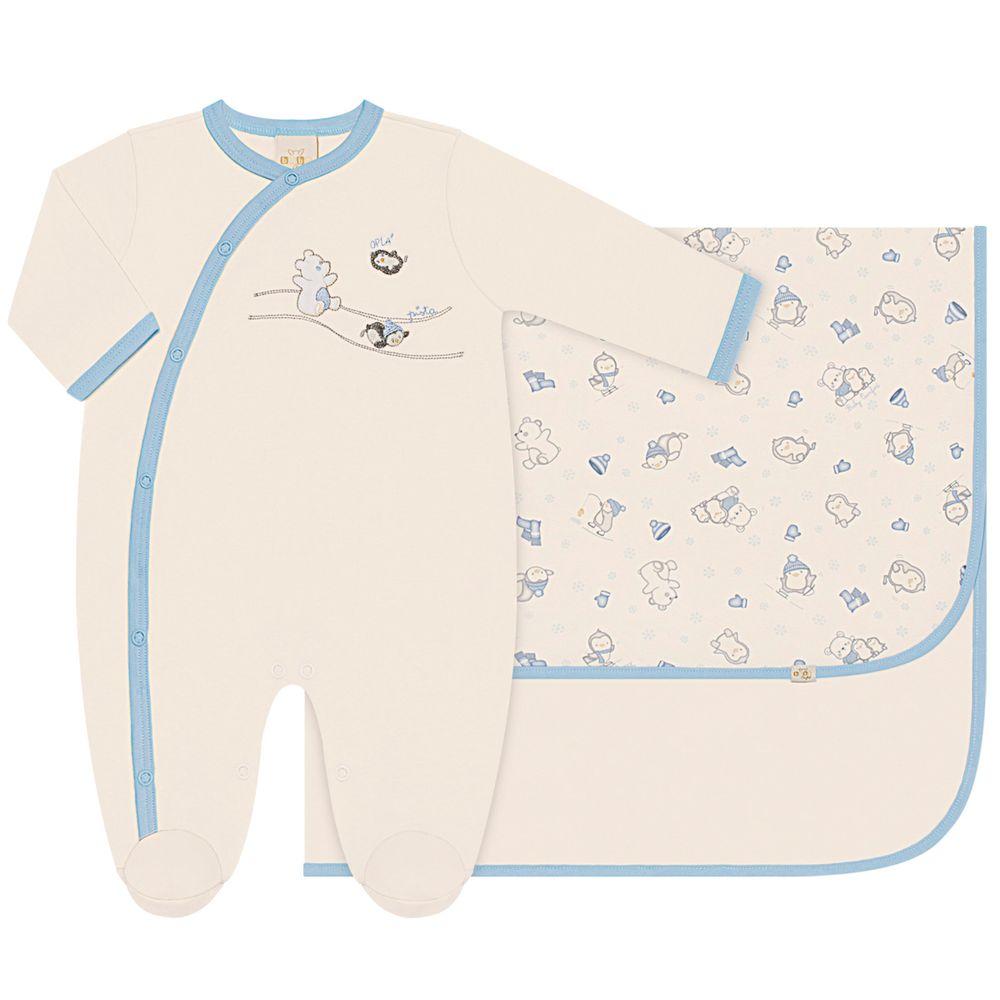 20708K-20735K-PI-AZ_A-moda-bebe-menino-saida-maternidade-macacao-longo-cueiro-em-suedine-pinguinzinho-anjos-baby