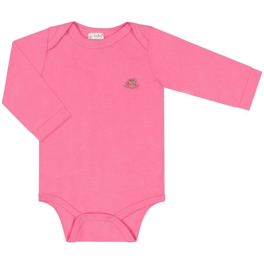 42115-PINK-A-moda-bebe-menina-body-longo-em-suedine-rosa-up-baby-no-bebefacil-loja-de-roupas-enxoval-e-acessorios-para-bebes