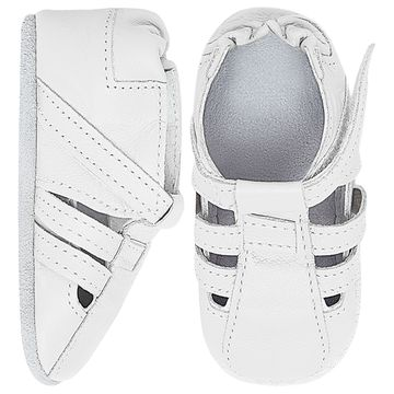 BABO92-A-sapatinho-bebe-menino-sandalia-tiras-couro-eco-branco-babo-uabu-no-bebefacil-loja-de-roupas-enxoval-e-acessorios-para-bebes