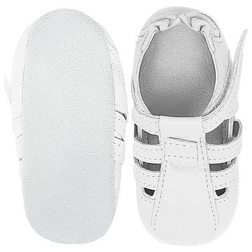 BABO92-B-sapatinho-bebe-menino-sandalia-tiras-couro-eco-branco-babo-uabu-no-bebefacil-loja-de-roupas-enxoval-e-acessorios-para-bebes