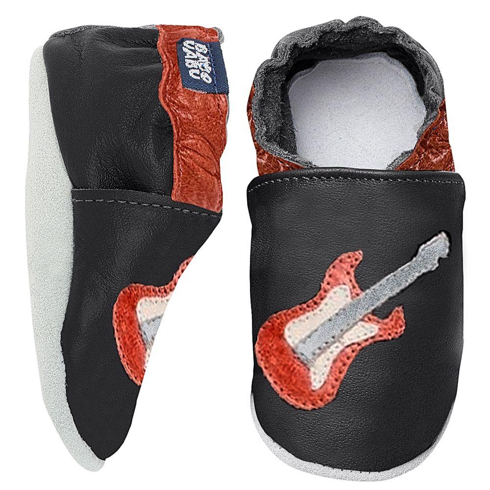 BABO93-A-Tenis-Guitarra-para-bebe-em-couro-Eco-Preto-Marrom---Babo-Uabu