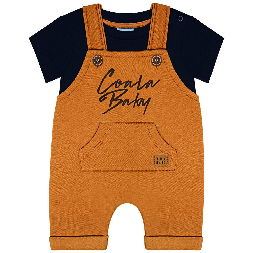 TMX4090-MC_A-moda-bebe-menino-jardineira-com-body-curto-em-moletinho-coala-baby-caramelo-marinho-TMX-no-bebefacil-loja-de-roupas-enxoval-e-acessorios-para-bebes