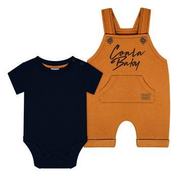TMX4090-MC_B-moda-bebe-menino-jardineira-com-body-curto-em-moletinho-coala-baby-caramelo-marinho-TMX-no-bebefacil-loja-de-roupas-enxoval-e-acessorios-para-bebes