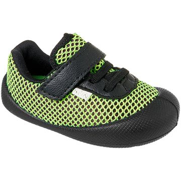 KN180004000-A-Tenis-para-bebe-Comfort-Plus-Preto-Verde---Klin