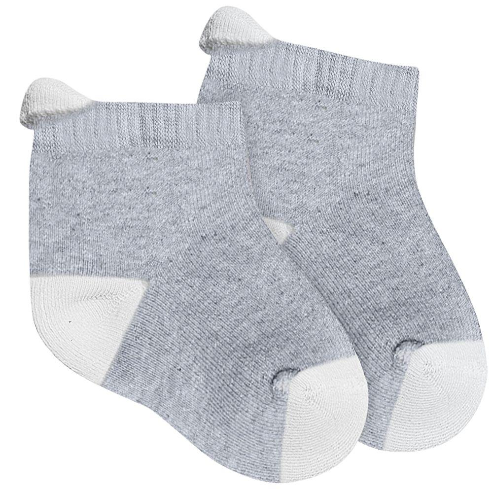 LU02065-001.8020-A-moda-bebe-menino-acessorios-meia-soquete-branca-mescla-lupo-no-bebefacil-loja-de-roupas-enxoval-e-acessorios