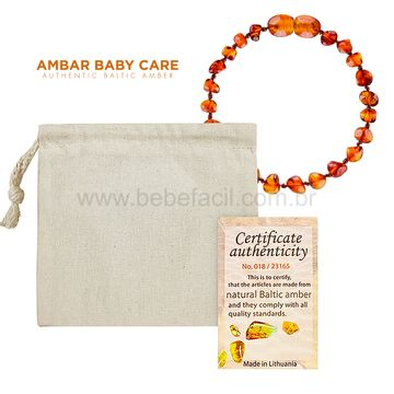 2469-D-Pulseira-de-Ambar-Baltico-para-bebe-Baroque-Cognac-14cm-Certificado---Bup-Baby