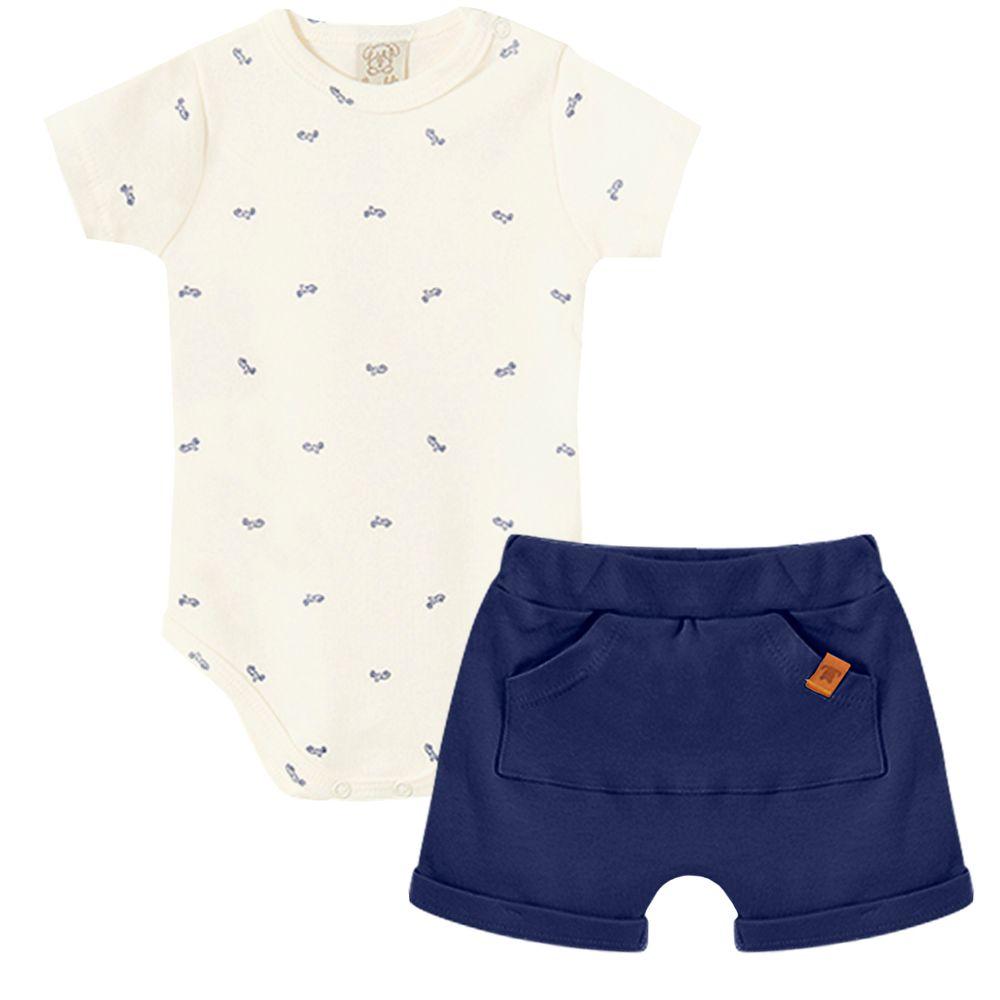 PL66562-A-moda-bebe-menino-conjunto-body-curto-shorts-suedine-motinha-pingo-lele-no-bebefacil-loja-de-roupas-enxoval-e-acessorios-para-bebes