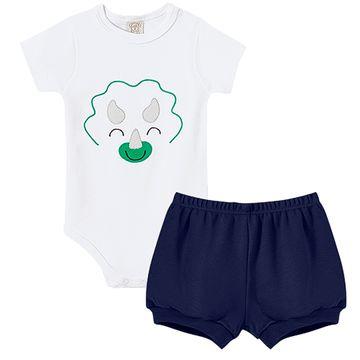 PL66581-A-moda-bebe-menino-conjunto-body-curto-shorts-suedine-dino-pingo-lele-no-bebefacil-loja-de-roupas-enxoval-e-acessorios-para-bebes