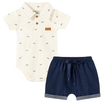 PL66565-A-moda-bebe-menino-conjunto-body-polo-shorts-jeans-suedine-motinha-pingo-lele-no-bebefacil-loja-de-roupas-enxoval-e-acessorios-para-bebes
