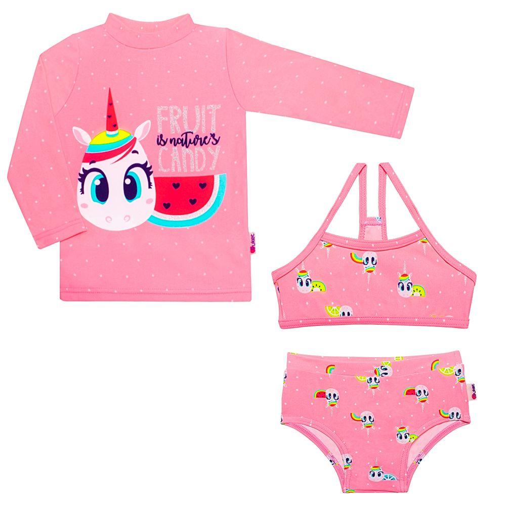 KIT1.UN-FR-A-moda-praia-menina-conjunto-de-banho-camisa-surfista-biquini-unicornio-puket-no-bebefacil-loja-de-roupas-enxoval-e-acessorios-para-bebes