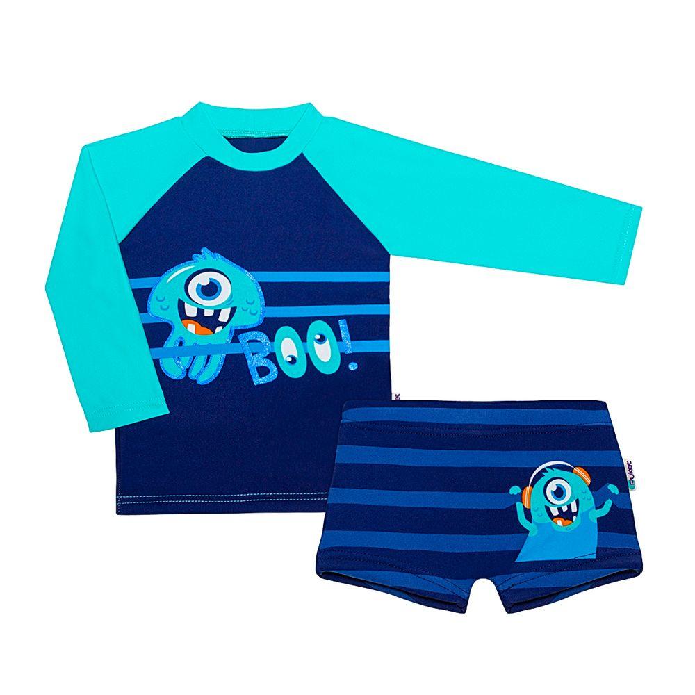 KIT1.MO-AM-A-moda-praia-bebe-menino-kit-camiseta-surfista-sunga-boxer-lycra-monstro-puket-no-bebefacil-loja-de-roupas-enxoval-e-acessorios-para-bebes