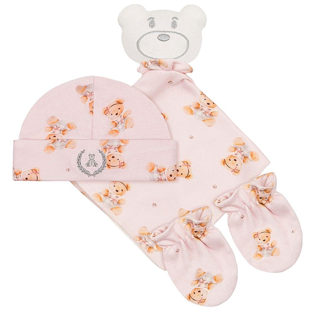 CQ20.042-131-A-enxoval-bebe-menina-kit-naninha-ursinha-touca---par-de-luvas-para-bebe-em-suedine--coquelicot-no-bebefacil