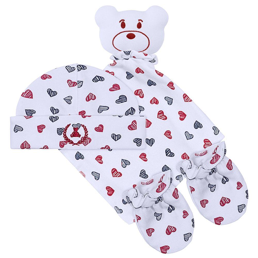 CQ20.042-142-A-enxoval-bebe-menina-kit-naninha-ursinha-love-touca---par-de-luvas-para-bebe-em-suedine--coquelicot-no-bebefacil