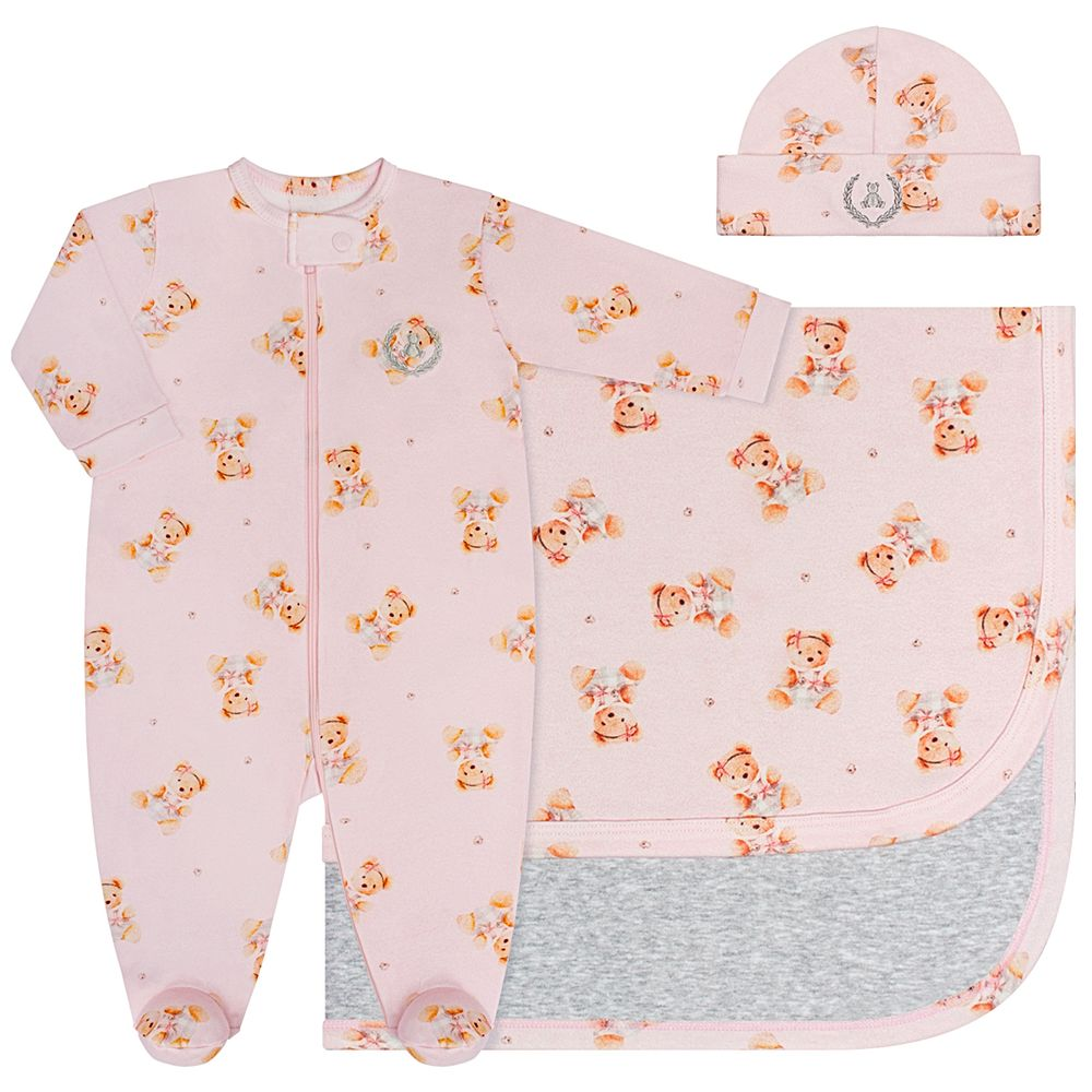 CQ20.059-131-A--enxoval-e-maternidade-bebe-menina-macacao-longo-ziper---touca---manta-em-algodao-egipcio-ursinha-coquelicot-no-bebefacil