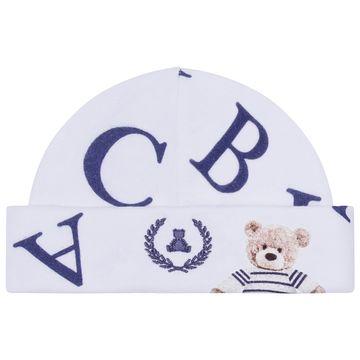 CQ20.040041-137-B-enxoval-e-maternidade-bebe-menino-kit-touca-luva-urso-letras-coquelicot-no-bebefacil-loja-de-roupas-enxoval-e-acessorios-para-bebes