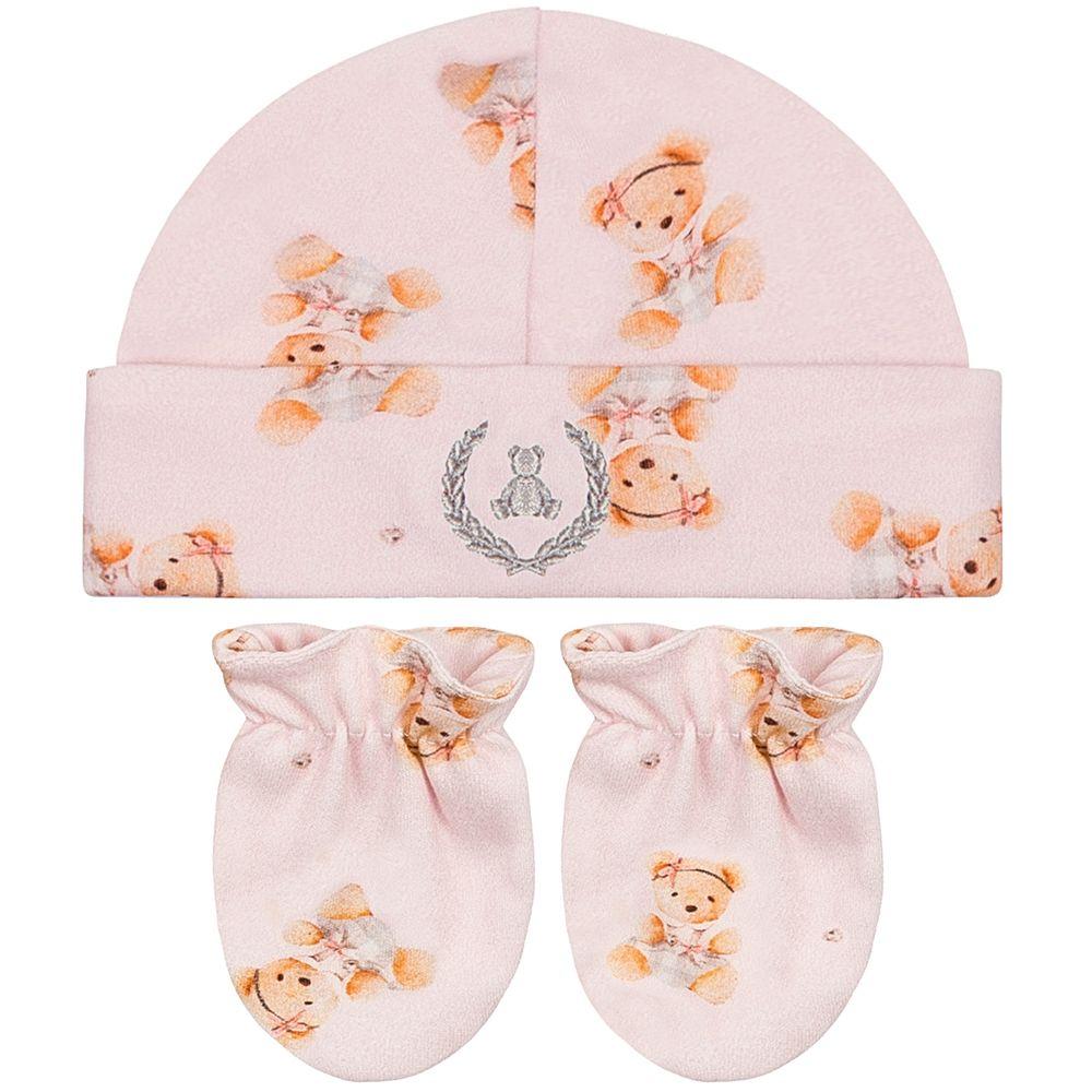 CQ20040-131-A--enxoval-e-maternidade-bebe-menina-kit-touca-luva-ursinha-coquelicot-no-bebefacil-loja-de-roupas-enxoval-e-acessorios-para-bebes