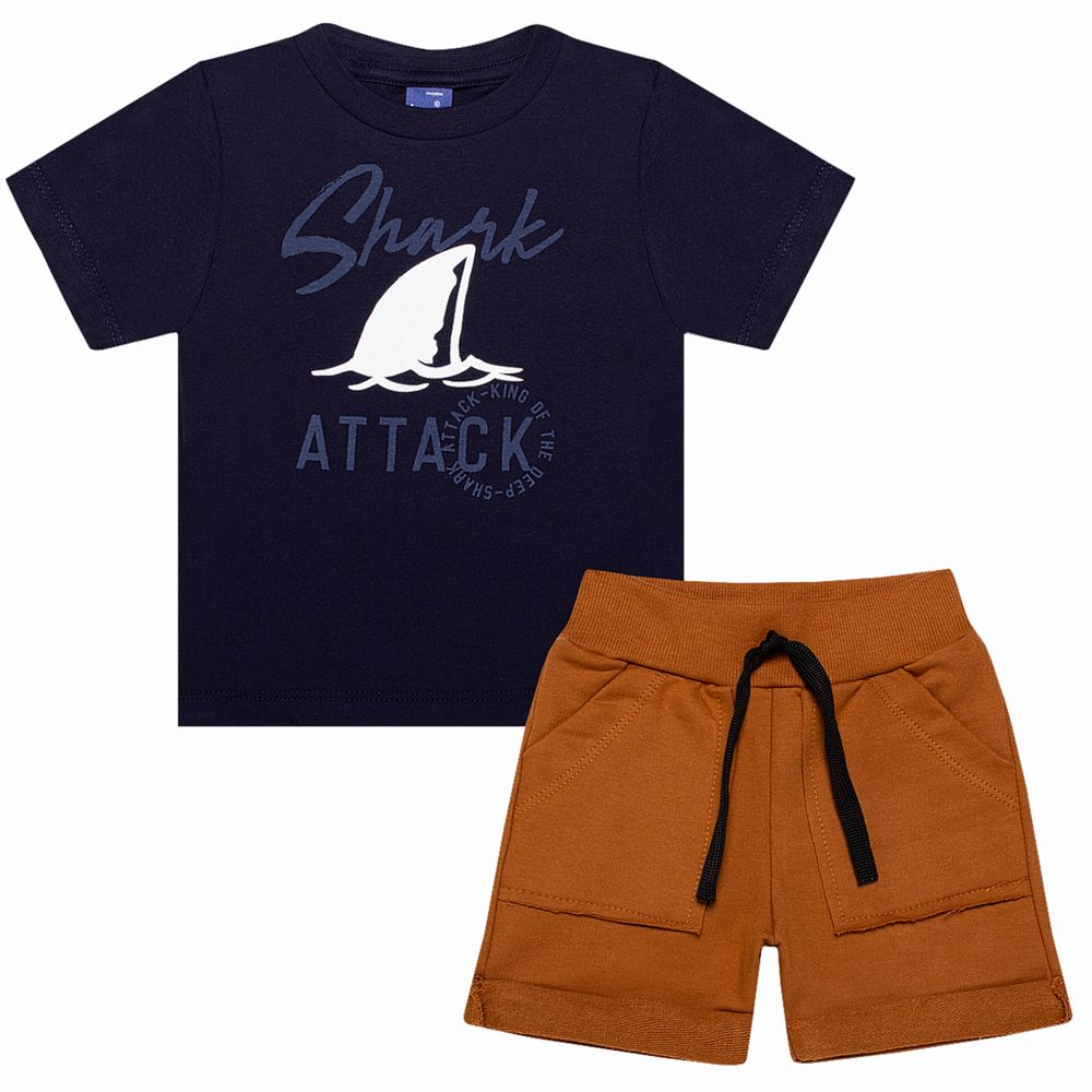 TMX5327-MC-A-moda-bebe-menino-conjunto-camiseta-bermuda-em-malha-moletinho-shark-TMX-no-bebefacil-loja-de-roupas-para-bebes