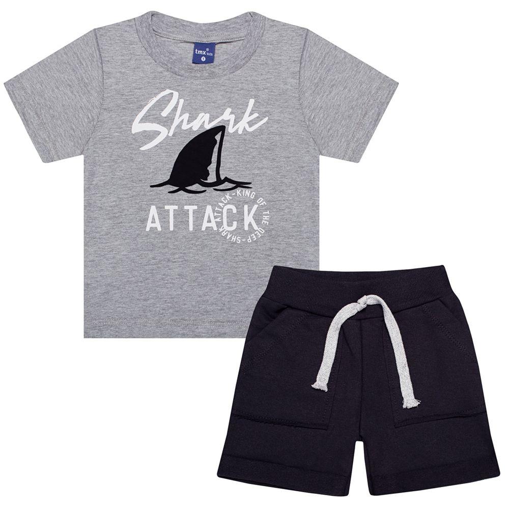 TMX5327-MP-A-moda-bebe-menino-conjunto-camiseta-bermuda-em-malha-moletinho-shark-attack-TMX-no-bebefacil-loja-de-roupas-para-bebes