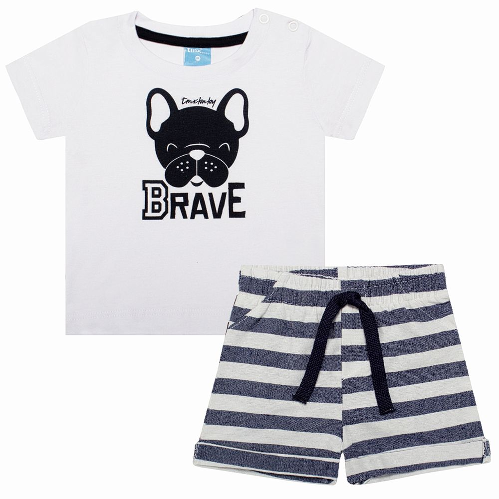 TMX4082-A-moda-bebe-menino-conjunto-camiseta-short-em-malha-bulldog-TMX-no-bebefacil-loja-de-roupas-para-bebes